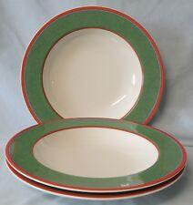 Villeroy & Boch Tipo Viva Green Rim Soup or Salad Bowl set of 3
