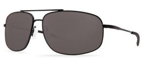 Costa Del Mar Shipmaster Polarized Sunglasses - Satin Black/Gray 580P Aviator