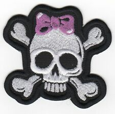 CROSS BONE Girl Skull PATCH