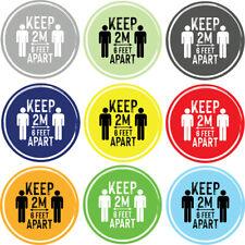 Social Distancing Floor Sticker/Decals - Anti Slip, Keep Apart 2m Stickers
