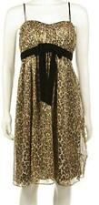 NEW~PHOEBE COUTURE~Women 10~Leopard PROM~PADDED Bust Support~Dress~Retail $250-