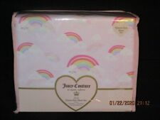 Juicy Couture Rainbow Clouds 4PC Queen Sheet Set  *New*