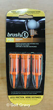 "Brush-t Golf Tees Oversize - 1 pack of 3 brush tees - 2.4"" height"