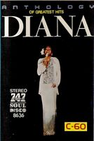 Diana Ross .. Anthology Of Greatest Hits. Import Cassette Tape