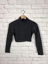 Cheerleading & Danz Team Black Long Sleeve Cropped Base Layer Size Medium