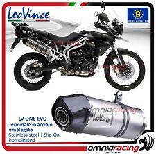 Leovince LV One EVO Scarico inox Triumph TIGER 800 XC/XCA/XCX/XR/XRX 2011>2016