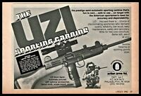 1982 UZI 9 mm Sporting Carbine PRINT AD Collectible Advertising