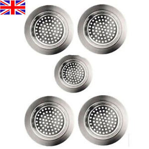 5 BATHTUB HAIR CATCHER Metal Shower/Sink Drain Hole Filter Trap Strainer/Stopper