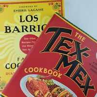 Vintage Cookbook: Tex-Mex Cooking Recipes TX Texas- Lot [2] Los Barrios Cookbook