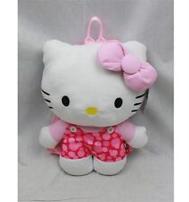 """NWT Sanrio Hello Kitty Plush Doll Backpack 15"""" Pink Dots Newest Style"""