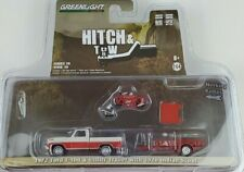 1:64 GreenLight 1972 Ford F-100 w/ Utility Trailer Hitch & Tow 20 Indian Scout