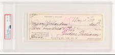 LARGE TED WILLIAMS SIGNED CHECK BOSTON RED SOX HOF AUTO GRADED PSA