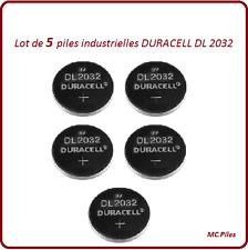5 piles boutons DL2032 lithium Duracell Ind, livraison rapide et gratuite