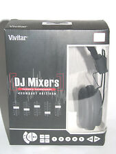 Vivitar LIMITED EDITION DJ Mixers Foldable Stereo Headphones Compact Edition!!