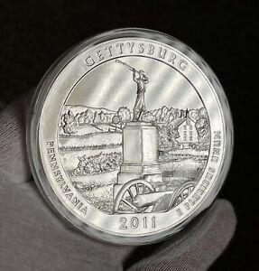 2011 ATB Gettysburg 5 oz Silver Coin BU In Capsule