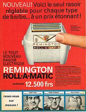 PUBLICITE ADVERTISING 124  1959  REMINGTON  rasoir ROLL-A-MATIC