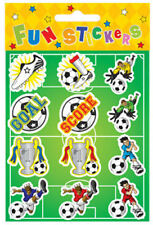 6 Football Sticker Sheets - Pinata Toy Loot/Party Bag Fillers Kids