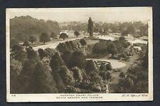 View of South Gardens & Terrace Hampton Court Palace - 1929