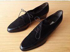Damen Schuhe Deckschuhe Schnürer Paul Green Gr 41 schwarz Leder Vintage Top