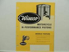Wiseco Motorcycle Hi-Performance Piston Catalog Order Form Yamaha Zundapp L9210
