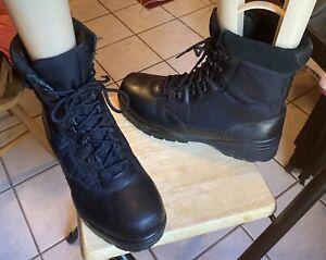 Mens CORCORAN Style 1944 Black Leather Cordura Military Jump Boots Men's Sz 12 W