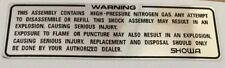 DUCATI 748 916 REAR SHOCK ABSORBER CAUTION WARNING DECAL