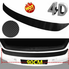 4D Black Carbon Fiber Auto Rear Trunk Tail Lip Protect Decal Sticker Car Styling