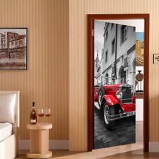 Vintage car Door Mural Self-Adhesive Stickers European Standard Size 88x200cm