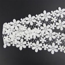 DIY Flower Applique Lcae Ribbon Off White Sewing Bilateral Lace Trims 2 Yards