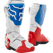 FOX 180 SE Boots Motocross White/Red/Blue Off road Adult sizes Sale Reduced