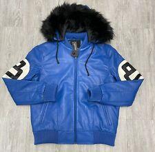Men's Robert Phillipe Royal 8 Ball Jacket with Fur Hood