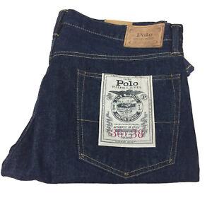 Mens Polo Ralph Lauren Jeans The Hampton Straight 36Tx38 New Tags Blue AR291