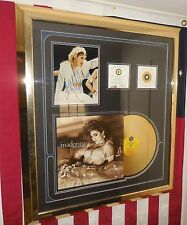 "Madonna Autograph W/Gold Record AND COA""S Professionally Framed AWESOME!!!"