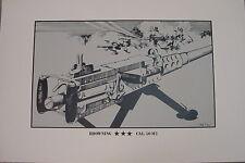 Browning 50Cal. M2 Machine Gun Print  Signed