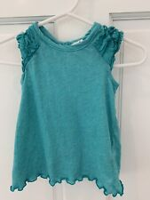 (K43) Spendid Baby 3-6 Months Turquoise Blue Top Dress Sleeveless