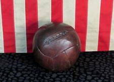 Vintage Antique Brown Leather Medicine Ball Laces Boxing Training 9 Lbs.Display