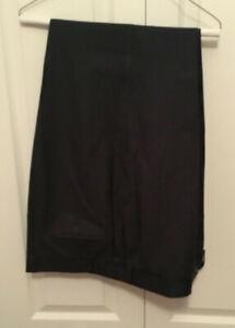 Mark & Spencer Italian fabric Mens indigo navy blue dress pants size 40/31