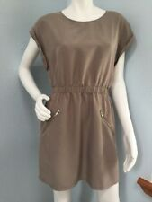 DIVIDED by H & M Sand Mini Dress Zippers Casual Classic Size 8