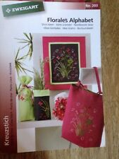Zweigart Pattern Book 203 Floral Alphabet Cross Stitch pattern book