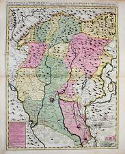 c1720 Bergamo Bergamasco Lombardei Lombardia Kupferstich-Landkarte Mortier