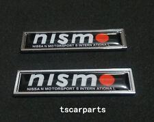 2Pcs Nismo Emblem Fender Badge Car Body Side Skirt Sticker Train window C column