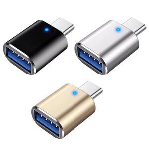 USB-C USB 3.1 Type C Male To USB 3.0 Female Data OTG Converter Adapter Light