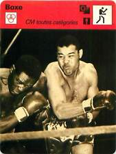 FICHE CARD: 1950 New York Joe Louis USA (à dr.) Ezzard Charles USA BOXING 1970s