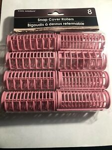 Cover Rollers Pink Snap Hair Curlers  Pack Of 8 Pieces - Brand Basic Solutions