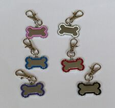 PLACA CHAPA identificativa hueso collar perro nombre telefono grabado grabacion