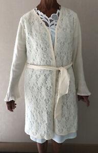 Robe De Chambre Peignoir D'intérieur Chaud En Laine Femme T42