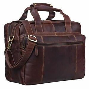 """STILORD """"Experience"""" Vintage Lehrertasche Leder groß Trolley aufsteckbar"""