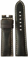 22x20 RIOS1931 for Panatime Slate Vintage Leather Watch Strap for Panerai Deploy