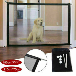 Portable Magic Mesh Pet Dog Cat Gate Door Barrier Safe Nets Guard 180cm x 75cm
