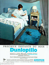 PUBLICITE ADVERTISING 036  1965  Dunlopillo   matelas traversins oreillers